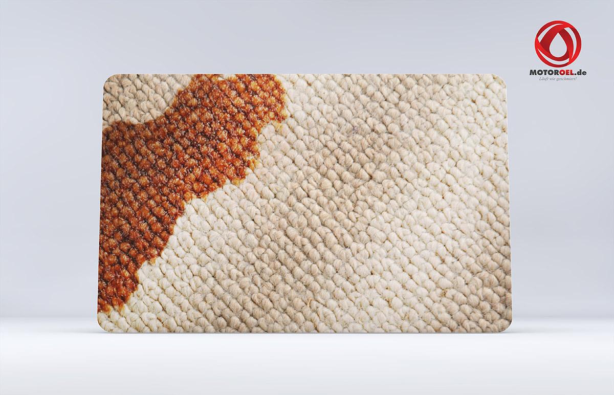 Wie entfernt man Motoröl aus dem Teppich?