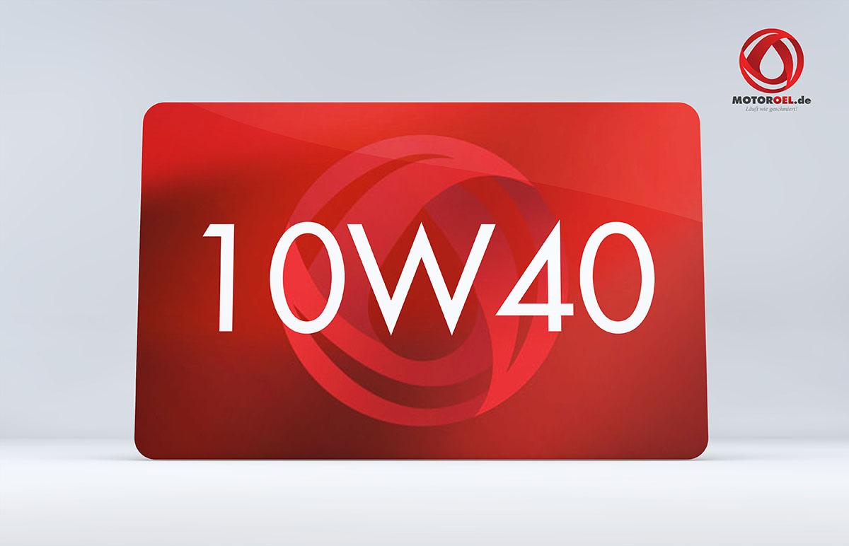 Was bedeutet beim Motoröl Bezeichnung 10w40?